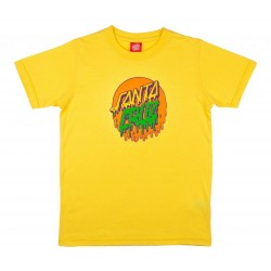 T-SHIRT SANTA CRUZ YOUTH RAD DOT - YELLOW