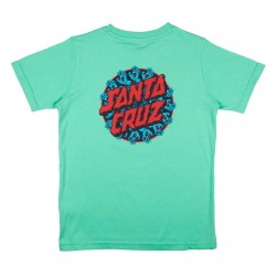 T-SHIRT SANTA CRUZ YOUTH HANDY DOT- JADE GREEN