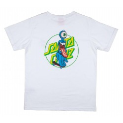 T-SHIRT SANTA CRUZ YOUTH GRIP DOT - WHITE