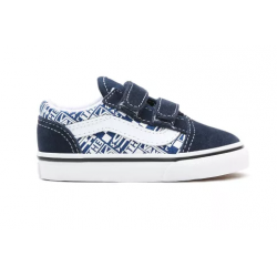 CHAUSSURES VANS OLD SKOOL V OFF THE WALL - DRESS BLUE TRUE WHITE