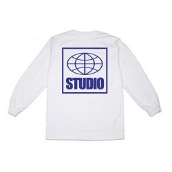 T-SHIRT STUDIO GLOBAL LS - WHITE