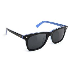 LUNETTES GLASSY MIKEMO HIGH ROLLER POLARIZED - BLACK WHITE BLUE