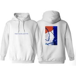 SWEAT POETIC COLLECTIVE PAINTING HOODIE - WHITE