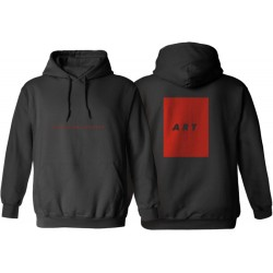 SWEAT POETIC COLLECTIVE ART HOODIE - BLACK RED