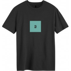 T-SHIRT POETIC BOX LOGO - BLACK TURQUOISE