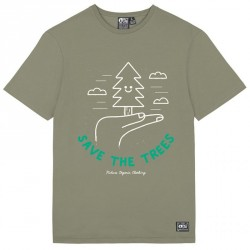 T-SHIRT PICTURE ORGANIC MG TREE TEE - DUSTY OLIVE