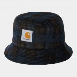 BOB CARHARTT WIP CORD BUCKET HAT - BRECK CHECK PRINT TOBACCO