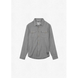 CHEMISE PICTURE ORGANIC LEWELL SHIRT - GREY