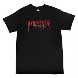 T-SHIRT THRASHER BLOOD DRIP - BLACK