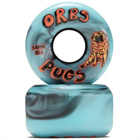ROUES ORBS PUGS CONICAL BLACK BLUE 85A - 54MM