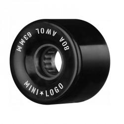 ROUES MINI LOGO AWOL 80A 63MM - BLACK