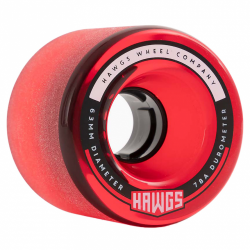 ROUES HAWGS WHEELS FATTY 78A 63MM - CLEAR RED