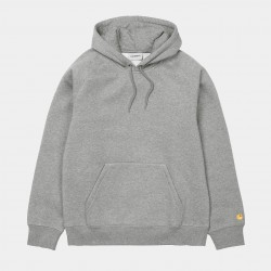 SWEAT CARHARTT WIP CHASE HOODED - GRIS CHINE / OR