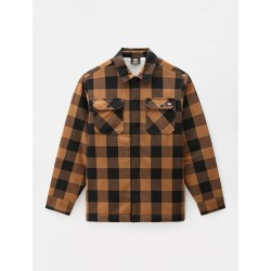 CHEMISE DICKIES SACRAMENTO SHERPA LINED - BROWN DUCK