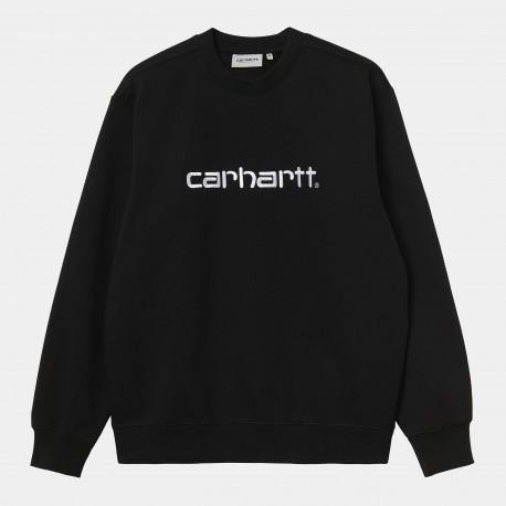 SWEAT CARHARTT WIP SWEAT - BLACK WHITE