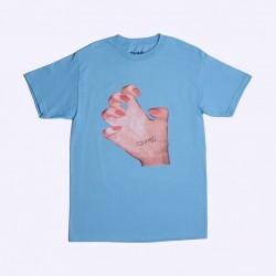 T-SHIRT QUASI MR HAND - CAROLINA BLUE