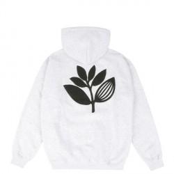 SWEAT MAGENTA TERRY PLANT HOODIE - ASH
