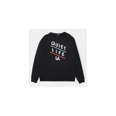 THE QUIET LIFE SLANT CREW BLACK