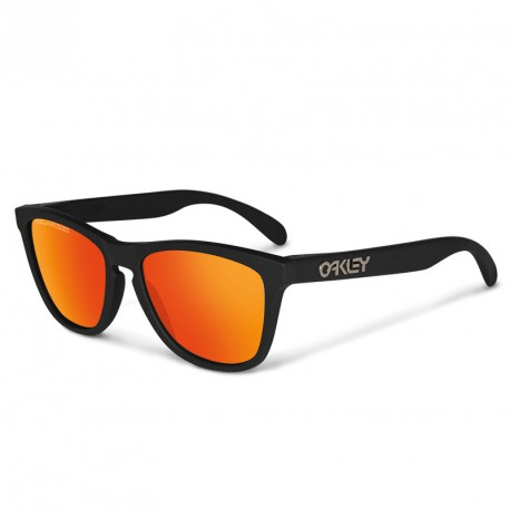 LUNETTES OAKLEY FROGSKINS MATTE BLACK RUBY IRIDIUM POLARIZED