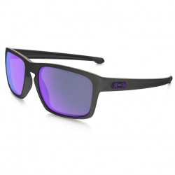 OAKLEY SLIVER MATTE BLACK VIOLET IRIDIUM POLARIZED