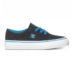 CHAUSSURE DC TRASE TX BLACK TURQUOISE KIDS
