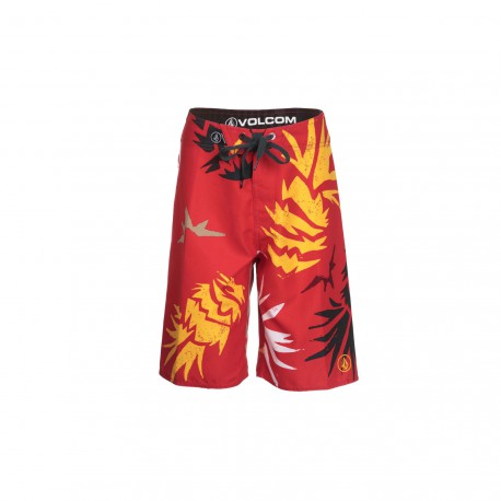 VOLCOM LADA LANE BOARDSHORT RED