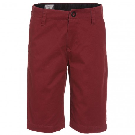 VOLCOM FACETED SHORT CRIMSON