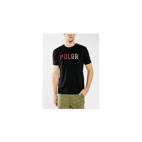 POLER STUFF FURRY FONT MEN TEE BLACK