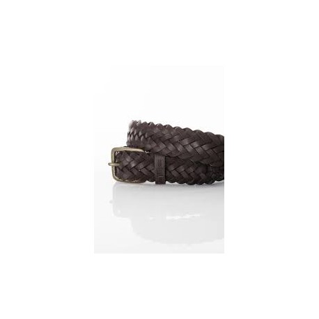 CEINTURE VANS AUSTIN PU BRAIDED - BROWN