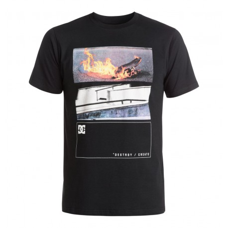 DC TEE MO BURNING / BLACK