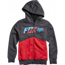 FOX BUSTLER SHERPA ZIP KID RED BLACK