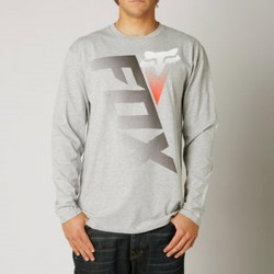 FOX DIGITIZE LS TEE HEATHER GREY