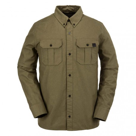 CHEMISE VOLCOM SHANDY FLANNEL OLIVE