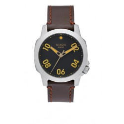 NIXON RANGER 40 LEATHER BLACK BROWN
