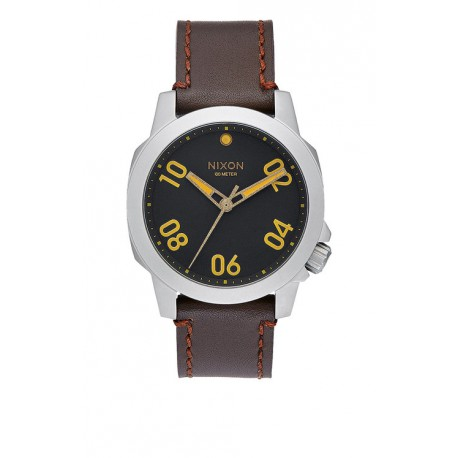 MONTRE NIXON RANGER 40 LEATHER BLACK BROWN