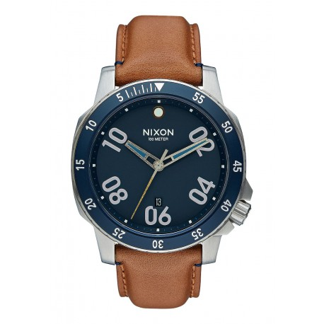MONTRE NIXON RANGER 44 LEATHER - NAVY/SADDLE