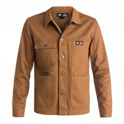 DC SHOES FRONT SNAP JACKET - BROWN